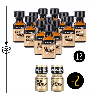 Gold Rush 24ml X 12 Plus 2 Small