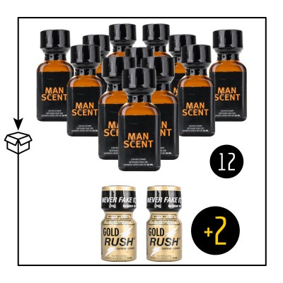 Man Scent Big X 12 Plus 2 Gold Rush 10ml
