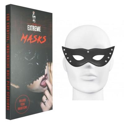 Masque Noir Clouté en Cuir