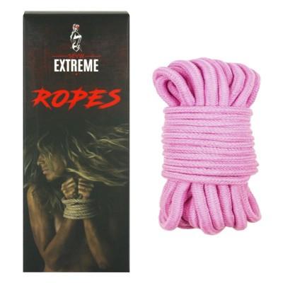 Corde de Coton Bondage 5m - Rose