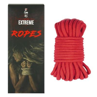 Corde de Coton Bondage 5m - Rouge