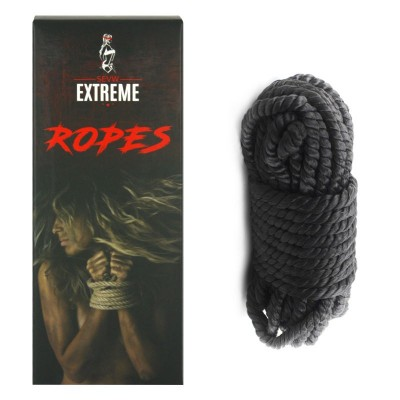 Soie Corde Bondage 10m - Noir