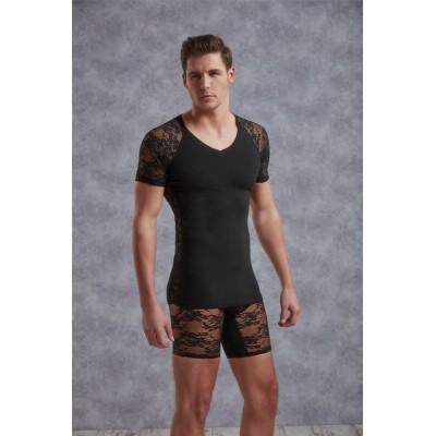 T-shirt homme avec dentelle Doreanse 2552