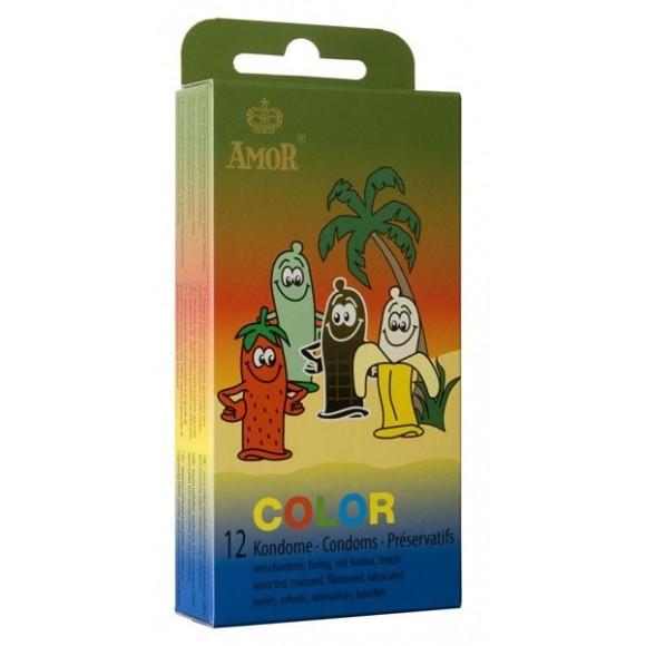 AMOR Color 12 préservatifs