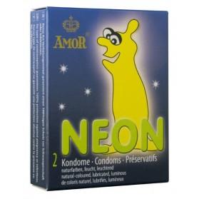 AMOR Neon 2 préservatifs