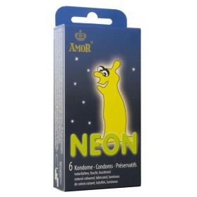 AMOR Neon 6 préservatifs