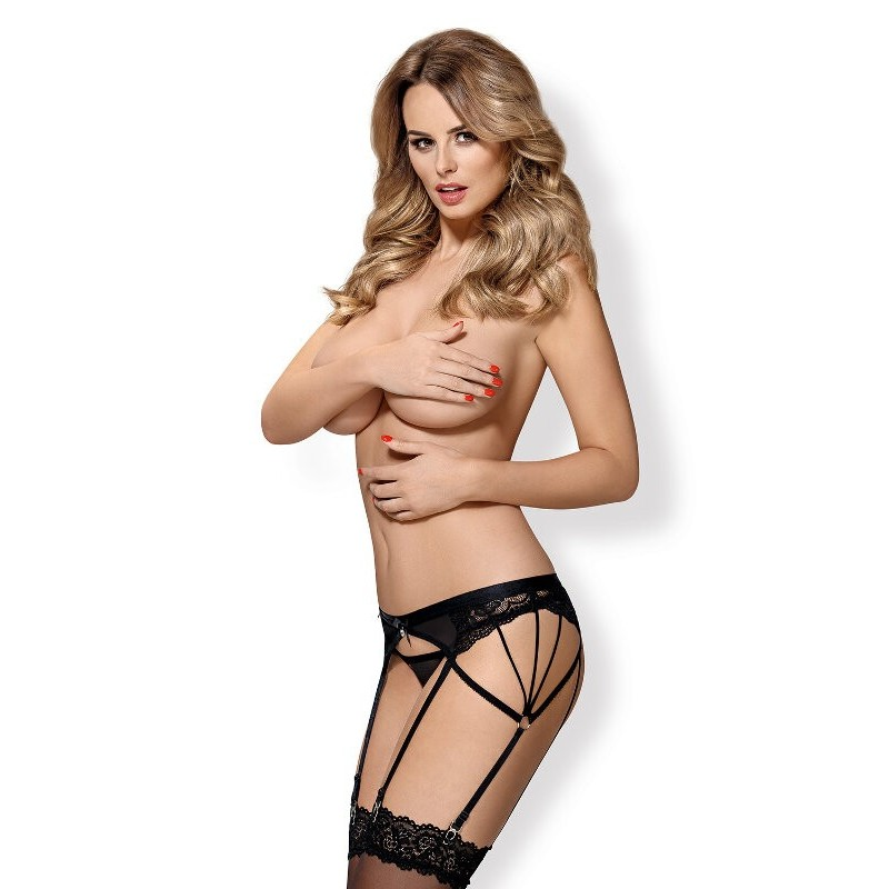 suspender belt with six slings